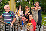 PARTY TIME: Organisers of a cultural and musical evening in Dromid  to welcome the An Turas Mor to the parish on Thursday evening..L/r. Concubar O'Murchu, Roisin Ni Riain, Eimear Ni Mhurchu, Seosaimh O'Concubhair, Sean O' Concubhair and Micheal O'Concubhair.   Copyright Kerry's Eye 2008