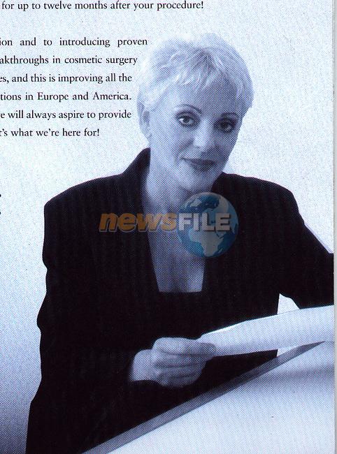 ADVANCED COSMETIC SURGERY.Halina Ashdown Shiels.PIC FRAN CAFFREY NEWSFILE