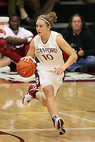 9 November 2006: Stanford Cardinal JJ Hones during Stanford's 88-61 win in the first round of the preseason Women's National Invitation Tournament against Loyola Marymount Lions at Maples Pavilion in Stanford, CA.