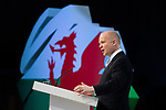 © Joel Goodman - 07973 332324 - all rights reserved . 06/03/2011 . Cardiff , UK . WILLIAM HAGUE MP . Day 2 of the Conservative Party Spring Conference at the Swalec Stadium . Photo credit : Joel Goodman