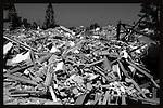 Destroyed houses, Neve Dekalim, Gush Katif. Photo by Quique Kierszenbaum