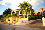 Little Arches Hotel in Oistins, Christ Church, Barbados is a lovely 10 room boutique hotel located just steps away from Enterprise Beach.  They also offer a marvelous restaurant on the roof of the property called Cafe Luna where you can dine on regional cuisine under the stars.  The front entrance to the hotel property.