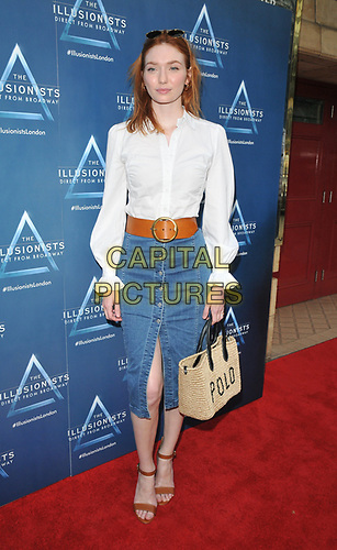 "Eleanor Tomlinson at the ""The Illusionists"" show press night, Shaftesbury Theatre, Shaftesbury Avenue, London, England, UK, on Wednesday 10th July 2019.<br /> CAP/CAN<br /> ©CAN/Capital Pictures"