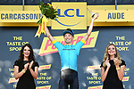 Magnus Cort Nielsen (DEN) Astana Pro Team wins Stage 15 of the 2018 Tour de France running 181.5km from Millau to Carcassonne, France. 22nd July 2018. <br /> Picture: ASO/Alex Broadway | Cyclefile<br /> All photos usage must carry mandatory copyright credit (&copy; Cyclefile | ASO/Alex Broadway)