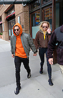 WWW.ACEPIXS.COM<br /> <br /> March 3, 2017 New York City<br /> <br /> Singer Joe Jonas and actress Sophie Turner leaving a Manhattan hotel on March, 3 2017 in New York City.<br /> <br /> <br /> <br /> Please byline: Curtis Means/ACE Pictures<br /> <br /> ACE Pictures, Inc.<br /> www.acepixs.com, Email: info@acepixs.com<br /> Tel: 646 769 0430