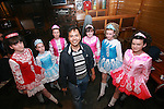 Ian Clark Parcon gets an dancing lesson from members of the Campbell Dance Academy in McPhails...Photo NEWSFILE/Jenny Matthews.(Photo credit should read Jenny Matthews/NEWSFILE)....This Picture has been sent you under the condtions enclosed by:.Newsfile Ltd..The Studio,.Millmount Abbey,.Drogheda,.Co Meath..Ireland..Tel: +353(0)41-9871240.Fax: +353(0)41-9871260.GSM: +353(0)86-2500958.email: pictures@newsfile.ie.www.newsfile.ie.FTP: 193.120.102.198.