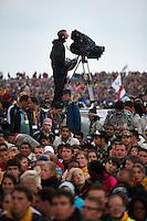 TV-photographer. Opening ceremony. Photo: Magnus Fröderberg/Scouterna