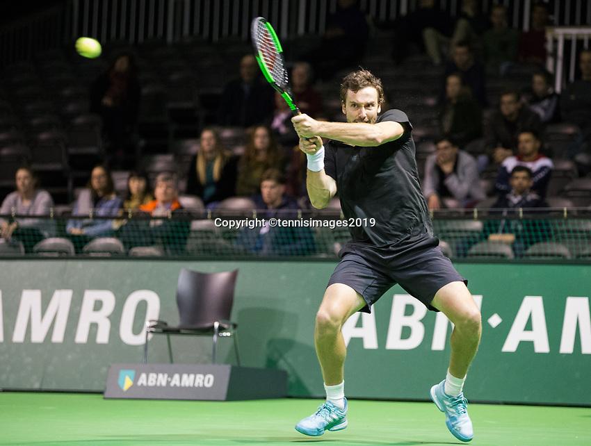 Rotterdam, Netherlands, 9 februari, 2019, Ahoy, Tennis, ABNAMROWTT, ERNESTS GULBIS (LET) Photo: Henk Koster/tennisimages.com