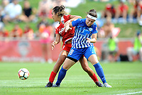 Boyds, MD - Saturday August 12, 2017: Caprice Dydasco, Tiffany Weimer during a regular season National Women's Soccer League (NWSL) match between the Washington Spirit and The Boston Breakers at Maureen Hendricks Field, Maryland SoccerPlex.