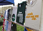A rack of t-shirts on display at the Tea Party rally on Friday, April 15, 2011, at the Legislature in Carson City, Nev. .Photo by Cathleen Allison