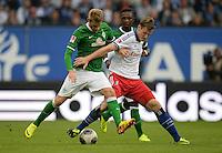 FUSSBALL   1. BUNDESLIGA   SAISON 2013/2014   6. SPIELTAG Hamburger SV - SV Werder Bremen                       21.09.2013 Aaron Hunt (li, SV Werder Bremen) gegen Marcell Jansen (re, Hamburger SV)