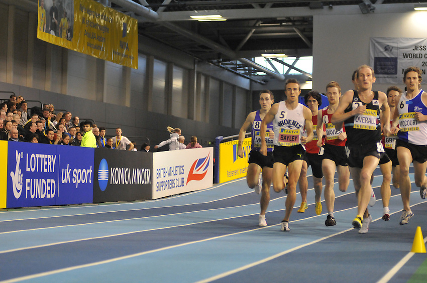 Photo: Tony Oudot/Richard Lane Photography. Aviva World Trials & UK Championships. 14/02/2010. .Mens 1500m Final..