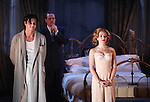 Benjamin Walker, Michael Park & Scarlett Johansson during the Broadway Opening Night Performance Curtain Call for 'Cat On A Hot Tin Roof' at the Richard Rodgers Theatre in New York City on 1/17/2013