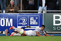 Ben Tapuai of Bath Rugby scores a try in the second half. Pre-season friendly match, between Leinster Rugby and Bath Rugby on August 25, 2017 at Donnybrook Stadium in Dublin, Republic of Ireland. Photo by: Patrick Khachfe / Onside Images