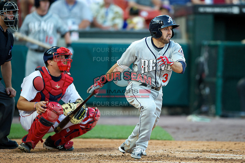 Reno Aces outfielder Adam Eaton #3 during the Triple-A All-Star game featuring the Pacific Coast League and International League top players at Coca-Cola Field on July 11, 2012 in Buffalo, New York.  PCL defeated the IL 3-0.  (Mike Janes/Four Seam Images)