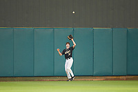 Army Black Knights center fielder Jacob Hurtubise (39) settles under a fly ball during the game against the Auburn Tigers at Doak Field at Dail Park on June 2, 2018 in Raleigh, North Carolina. The Tigers defeated the Black Knights 12-1. (Brian Westerholt/Four Seam Images)