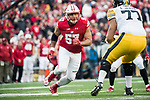 Wisconsin Badgers defensive lineman Alec James (57) during an NCAA College Big Ten Conference football game against the Iowa Hawkeyes Saturday, November 11, 2017, in Madison, Wis. The Badgers won 38-14. (Photo by David Stluka)