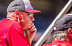 6 April 2015: Washington Nationals Manager Matt Williams watches batting practice outside the batting cage prior to their Home Opening Game against the New York Mets at Nationals Park in Washington, DC. The Mets rallied to defeat the Nationals 3-1 in their first meeting of the 2015 MLB season. Mandatory Credit: Ed Wolfstein Photo *** RAW (NEF) Image File Available ***