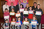 At the Kerry region EBS/INTO handwriting competition awards night in the Meadowlands Hotel last Wednesday were (front)L-R Caroline Hurley(Tralee)Muireann de Faoite(Kenmare)Ciara Casey(Ballyduff)Joanne Murphy(Brosna)and Kate Maher(Tralee)Middle L-R Edith White(kilflynn)Ellen Sheehan(Killarney)Tara o Sullivan(Kenmare)Mairead Scannell(Killarney)Aoife o Conner(Scartaglen)Conor McKenna(Tarbert)and Sean Galligher(Scartaglen)Back L-R Caroline Quilter(EBS)Seamus Long(INTO Kerry Rep)Paula Whyte(EBS)Marian Curtin(INTO).-----------------------------------------   Copyright Kerry's Eye 2008