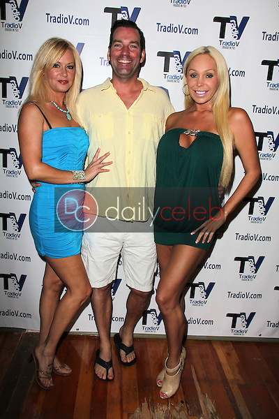 """Beverly Lynne, Dave Wurnlinger, Mary Carey<br /> on the set of """"Politically Naughty with Mary Carey,"""" TradioV Studios, Los Angeles, CA 09-16-13<br /> David Edwards/DailyCeleb.Com 818-249-4998"""