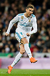 Cristiano Ronaldo of Real Madrid in action during the La Liga 2017-18 match between Real Madrid and Girona FC at Estadio Santiago Bernabéu  on March 18 2018 in Madrid, Spain. Photo by Diego Souto / Power Sport Images