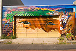 California: San Francisco. Mission district murals, Hispanic themes.  Photo copyright Lee Foster.  Photo # 26-casanf78631.