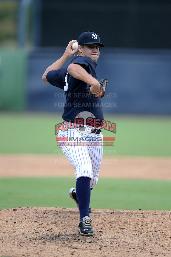 New York Yankees pitcher Conner Kendrick (36) during an Instructional League game against the Toronto Blue Jays on September 24, 2014 at George M. Steinbrenner Field in Tampa, Florida.  (Mike Janes/Four Seam Images)