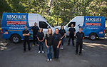 Absolute Drain employees, Bobby Reedholm, Jacob Green, Beth Castonguay, Tawny Kline, owner Laura Castonguay, owner Mickey Castonguay, Mickey Castonguay II and Ian Castonguay in Reno, Nevada on Thursday, August 10, 2017.
