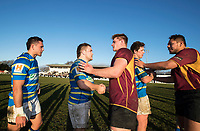 Action from the Canterbury Metro Premier club rugby trophy final between Lincoln University and Canterbury University at  Rugby Park in Christchurch, New Zealand on Saturday, 29 July 2017. Photo: Joe Johnson / lintottphoto.co.nz