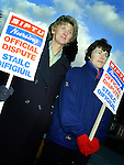 Esther Durcan and Rosaleen Crawley Clare striking outside St. Bridget's Hospital in Ardee..Picture Paul Mohan Newsfile