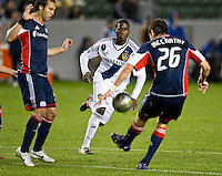 CARSON, CA - March 31, 2012: Edson Buddle (14) of the Galaxy during the LA Galaxy vs New England Revolution match at the Home Depot Center in Carson, California. Final score LA Galaxy 1, New England Revolution 3.