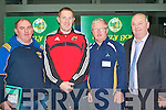 COACHING: Taking part in the County Coaching Conference at Mercy Mounthawk school on Saturday l-r: Thomas O'Connell (Cordal), Noel Kennelly (Listowel Emmets), John Hegarty (Milltown/Castlemaine) and Mike McCarthy (County coaching officer)..
