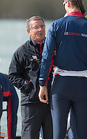 Caversham. Berkshire. UK<br /> left, Cheif Coach, Jurgan GROBLER with Paul BENNETT. on the boating pontoon.<br /> 2016 GBRowing European Team Announcement,  <br /> <br /> Wednesday  06/04/2016 <br /> <br /> [Mandatory Credit; Peter SPURRIER/Intersport-images]