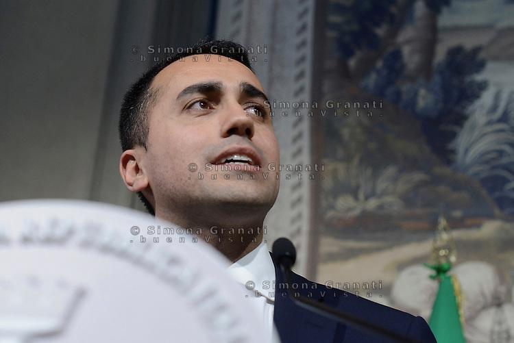 Roma, 14 Maggio 2018<br /> Luigi Di Maio<br /> Consultazioni al Quirinale per la formazione del nuovo Governo
