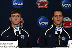 10 December 2009: Billy Schuler and Zach Loyd. The University of North Carolina Tar Heels held a press conference at WakeMed Soccer Stadium in Cary, North Carolina on the day before playing Akron in an NCAA Division I Men's College Cup semifinal game.