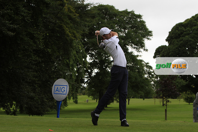 David Mooney (Athenry) on the 1st tee during the AIG Connacht Jimmy Bruen Shield Final of the AIG Connacht Cups &amp; Shields Finals 2016 at Ballinrobe Golf Club, Ballinrobe Co. Mayo on Saturday 6th August 2016.<br /> Picture:  Golffile | Thos Caffrey<br /> <br /> All photos usage must carry mandatory copyright credit   (&copy; Golffile | Thos Caffrey)