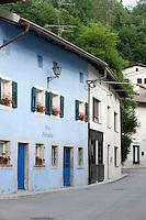 Kobarid (Caporetto in Italian) street scenes, Slovenia