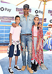 WESTWOOD, CA - JUNE 30: (L-R) Nicolas Neruda Kodjoe, Boris Kodjoe and Sophie Tei Naaki Lee Kodjoe attend the Columbia Pictures and Sony Pictures Animation's world premiere of 'Hotel Transylvania 3: Summer Vacation' at Regency Village Theatre on June 30, 2018 in Westwood, California.