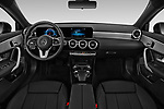 Stock photo of straight dashboard view of a 2019 Mercedes Benz A Class A 200 4 Door Sedan