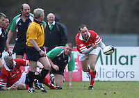 Andy Matchett in action during the charity match between the Ulster 1999 XV and a Wooden Spoon Select XV at Shaw's Bridge Belfast.  Mandatory Credit - Photo : John Dickson