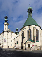 Kirche St. Katharina - Kostol sv. Katariny in Banska Stiavnica, Banskobystricky kraj, Slowakei, Europa<br /> Church St. Catherine  in Banska Stavnica, Banskobystricky kraj, Slovakia, Europe