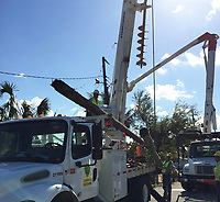 2017 FPL Hurricane Irma restoration in Opa Locka, Fla. on September 15, 2017.