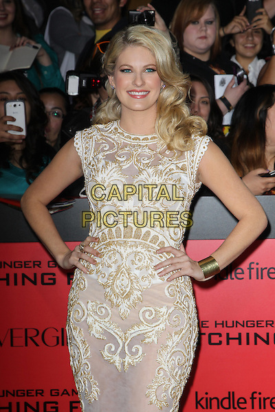 LOS ANGELES, CA - NOVEMBER 18: Stephanie Leigh Schlund arrives for the Los Angeles premiere of 'The Hunger Games: Catching Fire,' at the Nokia Theatre LA Live in Los Angeles, California, November 18, 2013.<br /> CAP/MPI/RTNUPA<br /> &copy;RTNUPA/MPI/Capital Pictures