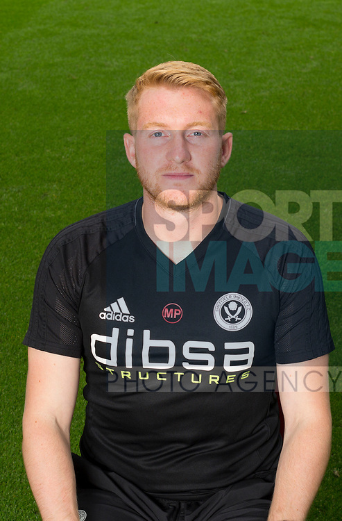 Matt Prestridge of Sheffield Utd during the 2017/18 Photocall at Bramall Lane Stadium, Sheffield. Picture date 7th September 2017. Picture credit should read: Sportimage
