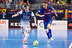 Barcelona Lassa Jesus Nazaret and R. Renov. Zaragoza Oscar Villanueva during Futsal Spanish Cup 2018 at Wizink Center in Madrid , Spain. March 16, 2018. (ALTERPHOTOS/Borja B.Hojas)