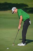 Aaron Wise (USA) sinks his birdie putt on 11 during round 2 of the Fort Worth Invitational, The Colonial, at Fort Worth, Texas, USA. 5/25/2018.<br /> Picture: Golffile | Ken Murray<br /> <br /> All photo usage must carry mandatory copyright credit (&copy; Golffile | Ken Murray)