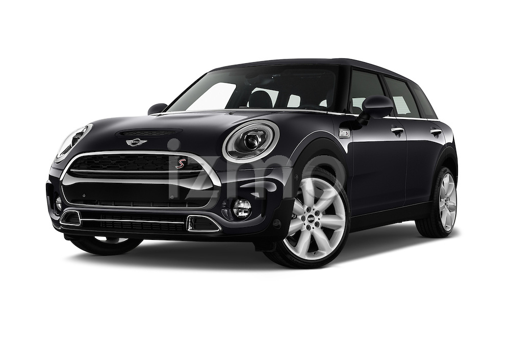 Stock pictures of low aggressive front three quarter view of 2016 MINI Clubman Cooper-SD 5 Door wagon Low Aggressive