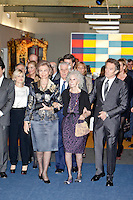 Cayetana Martinez de Irujo, Queen Sofia of Spain, Duchess of Alba, Cayetana Fitz-James Stuart, and husband Alfonso Diez attend 'El Legado Casa de Alba' Art exhibition at the Palacio de Cibeles . December 18, 2012. (ALTERPHOTOS/Caro Marin) /NortePHOTO