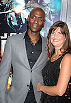 "LOS ANGELES, CA. - June 17: Lance Reddick (L) and guest arrive at the ""Jonah Hex"" Los Angeles Premiere at ArcLight Cinemas Cinerama Dome on June 17, 2010 in Hollywood, California."