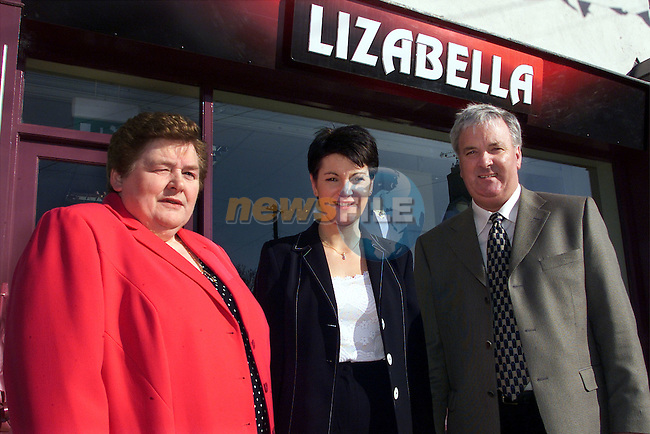 Delores McKeown, manager pictured with Margret McCabe, Left and Peter McCabe, right, owners of Lizabelles boutique in Ardee at its offical opening...pic:Arthur Carron/ Newsfile